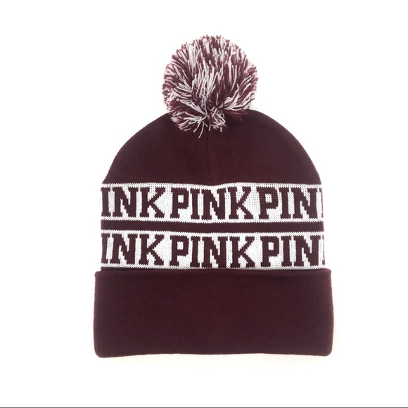 PINK Victoria's Secret Accessories - 🌸PINK Victoria's Secret | Logo Pom Pom Beanie